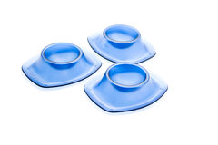 Copos de ovo azuis Imagens de Stock