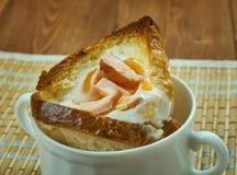 Copos de ovo do café da manhã Imagens de Stock