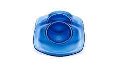Copos de ovo plásticos azuis Imagem de Stock Royalty Free