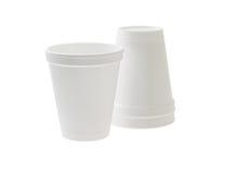 Copos descartáveis do styrofoam Fotos de Stock Royalty Free