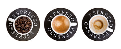 Copos do café imagem de stock