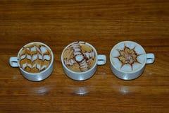 3 copos do café de Moca Fotos de Stock