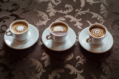 Copos do café do café Foto de Stock