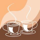 Copos do café ou de chá Fotografia de Stock Royalty Free