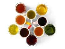 Copos do chá diferente Fotografia de Stock Royalty Free