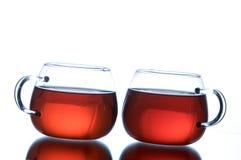 Copos do chá preto Foto de Stock Royalty Free