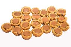 Copos do chocolate da cookie isolados Imagens de Stock Royalty Free