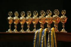 Copos do ouro Fotos de Stock Royalty Free