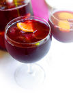 Copos do Sangria Fotografia de Stock
