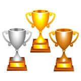 Copos do troféu Imagens de Stock Royalty Free