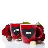 Copos do Valentim Imagem de Stock Royalty Free