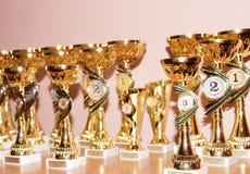 Copos dos vencedores Imagem de Stock Royalty Free