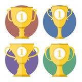 Copos dourados Imagem de Stock Royalty Free