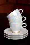 Copos e pires de chá Foto de Stock Royalty Free