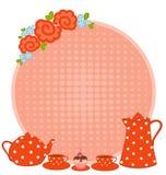 copos e tea-pot Fotos de Stock