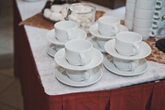 Copos para o chá e o café 1747 Imagem de Stock Royalty Free