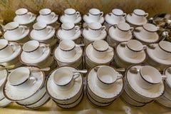 Copos para o chá e o café Fotografia de Stock