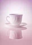 Copos para o chá em um fundo branco Imagens de Stock