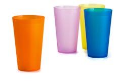 Copos plásticos Foto de Stock Royalty Free