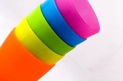 Copos plásticos Foto de Stock