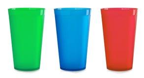 Copos plásticos Fotografia de Stock Royalty Free