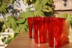 Copos vermelhos Fotografia de Stock Royalty Free