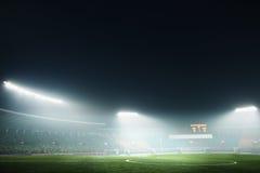 Coposit de Digitaces del campo de fútbol y del cielo nocturno Fotos de archivo