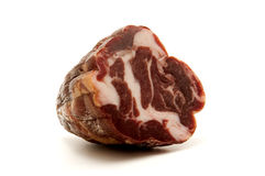 Coppa. Italian coppa on a white background Stock Photography