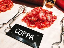 Coppa buffet of the hotel. royalty free stock image