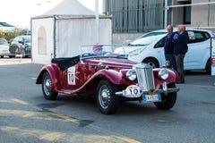 Coppa dżentelmenów sardi, samochód wystawa, MG typ zdjęcia royalty free