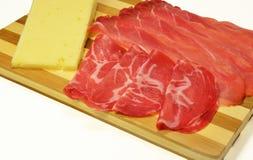 Coppa da salpicadura e queijo italianos de Asiago Imagens de Stock Royalty Free
