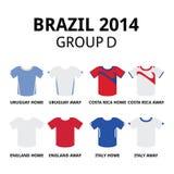 Coppa del Mondo Brasile 2014 - raggruppi il pullover di calcio dei gruppi di D illustrazione di stock