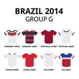 Coppa del Mondo Brasile 2014 - raggruppi il pullover di calcio dei gruppi di F illustrazione di stock