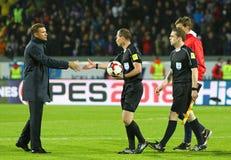 Coppa del Mondo 2018 che si qualifica: L'Islanda v Ucraina a Reykjavik Fotografie Stock Libere da Diritti