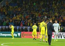 Coppa del Mondo 2018 che si qualifica: L'Islanda v Ucraina a Reykjavik Immagini Stock Libere da Diritti