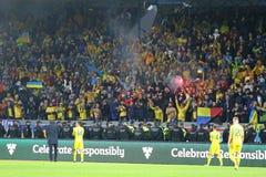Coppa del Mondo 2018 che si qualifica: L'Islanda v Ucraina a Reykjavik Immagine Stock Libera da Diritti