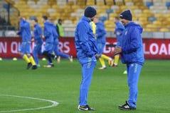 Coppa del Mondo che si qualifica: L'Ucraina v Croazia a Kiev Pre-partita Fotografia Stock