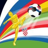 coppa del Mondo 2018 della FIFA di Quarto-finali illustrazione vettoriale