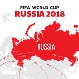 Coppa del Mondo 2018 della Russia illustrazione vettoriale