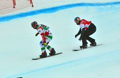 Coppa del Mondo dello snowboard Immagine Stock