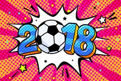 Coppa del Mondo 2018 di calcio illustrazione di stock