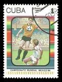Coppa del Mondo 1986 di calcio nel Messico Fotografie Stock