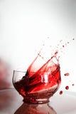 Coppa della spruzzata del vino Fotografie Stock Libere da Diritti