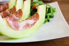 Coppa ham with melon Stock Photography