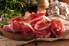 Coppa. Traditional coppa sausage with spices Stock Photography