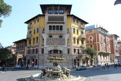 Coppedèhuis in Rome Royalty-vrije Stock Afbeeldingen