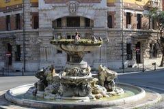 Coppedèhuis in Rome Stock Afbeeldingen