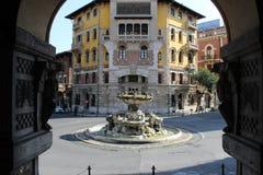Coppedèhuis in Rome Stock Afbeelding