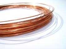 Copper. 's yarn Royalty Free Stock Photos