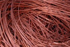 Copper. Waiste copper cales Royalty Free Stock Photos